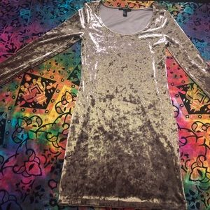 Forever 21 Velvet Olive Green Mini dress M